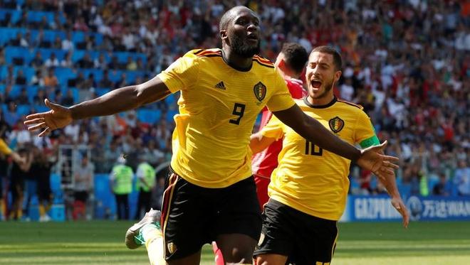 Lukaku, Hazard lap cu dup giup tuyen Bi de bep Tunisia hinh anh