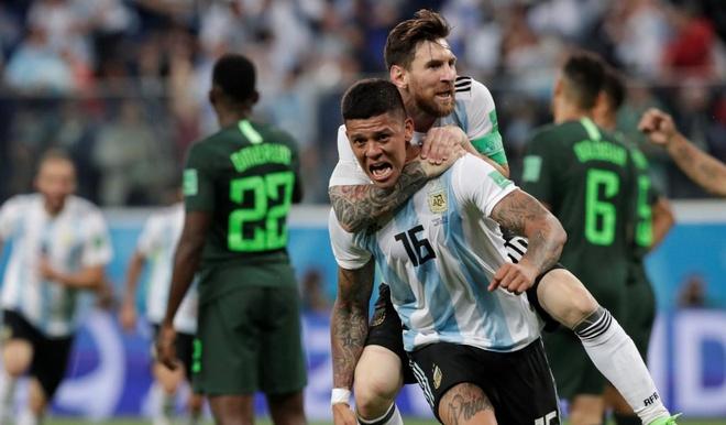 Chật vật hạ Nigeria, Argentina hẹn Pháp ở vòng 1/8 World Cup