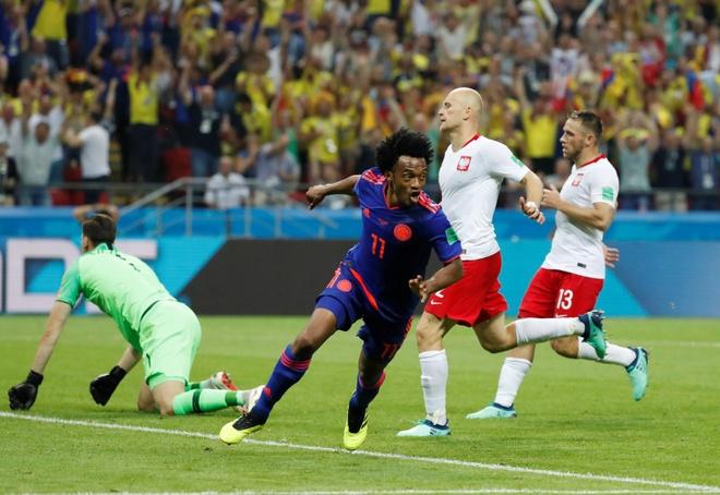 James Rodriguez lập cú đúp kiến tạo, Colombia tiễn Ba Lan rời giải