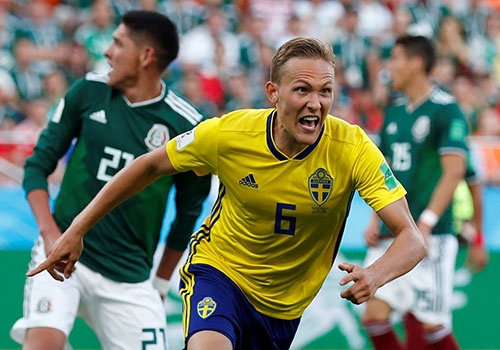 Mexico vs Thụy Điển (0-3): Chiến thắng tưng bừng