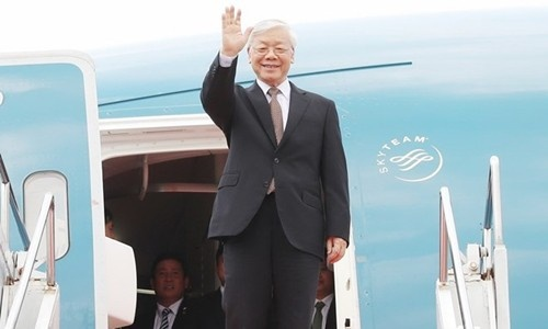 Tong bi thu Nguyen Phu Trong len duong tham Phap hinh anh 1