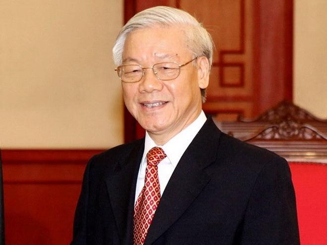 Tong bi thu Nguyen Phu Trong len duong tham Phap hinh anh