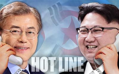 Lap duong day nong truc tiep giua ong Kim Jong Un va Moon Jae In hinh anh 1