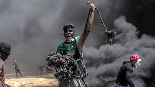 Bien gioi Israel - Palestine trong ngay bao luc dam mau hinh anh