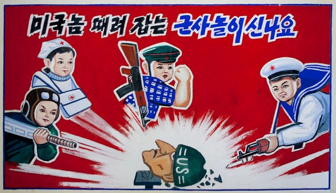 Trieu Tien bo do luu niem, bieu ngu chong My sau thuong dinh Trump-Kim hinh anh