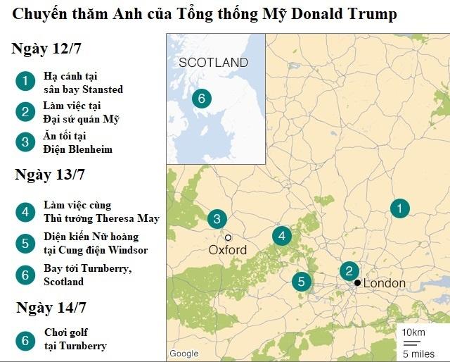 Dat chan toi London, Trump noi khong ngan nguoi bieu tinh hinh anh 2