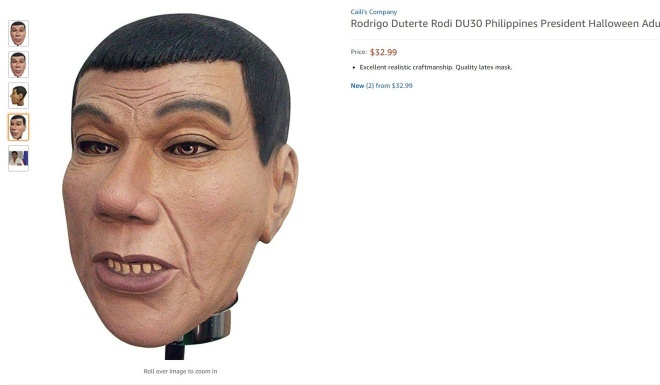 Mat na Halloween hinh Tong thong Duterte duoc ban tren Amazon hinh anh 1