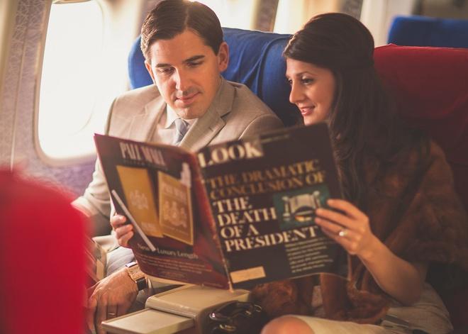 Chuyen bay nam 1960 khac ngay nay the nao? hinh anh 4 Hành khách hoàn toàn thư giãn.