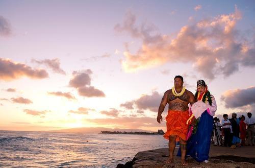Đám cưới ở Hawaii.