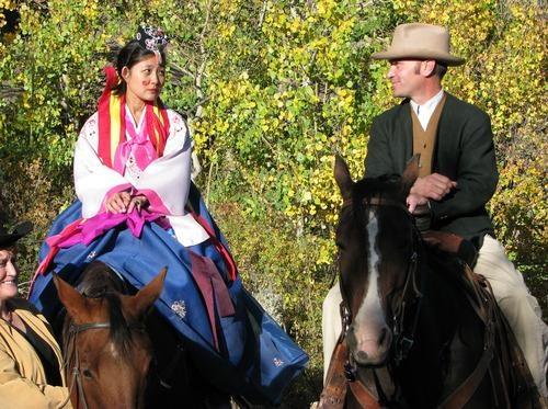 Đám cưới ở Wyoming.
