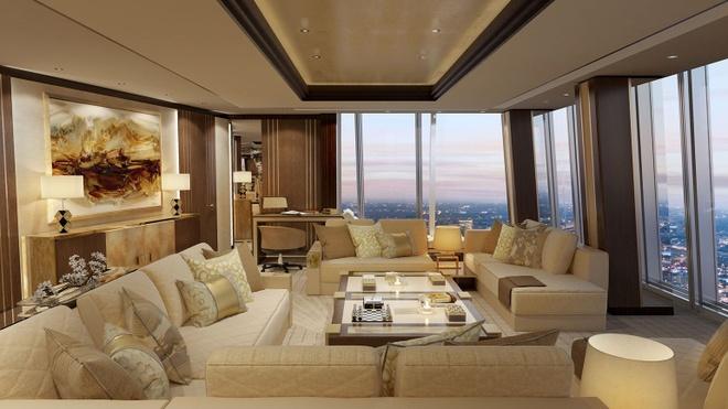 Phòng suite mới đưa vào sử dụng có mức giá đắt nhất của khách sạn Shangri-la, và cũng nằm trong danh sách phòng khách sạn siêu sang của London. Bạn cần chi 10.000 bảng Anh (khoảng 334,7 triệu đồng) cho một đêm ở đây.