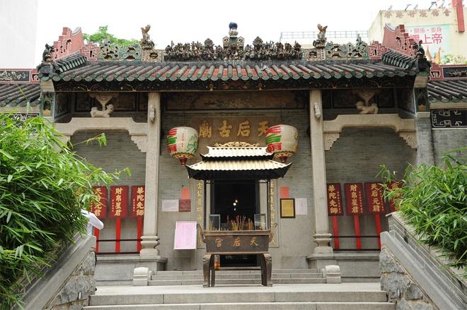 Nhung diem den tam linh tai Hong Kong hinh anh 5 Miếu thờ Thiên Hậu lớn và cổ nhất Hong Kong là đền Sai Kung ở vịnh Joss House, được xây dựng vào năm 1266, đã được công nhận là di tích lịch sử cấp 1. Ảnh: Baike