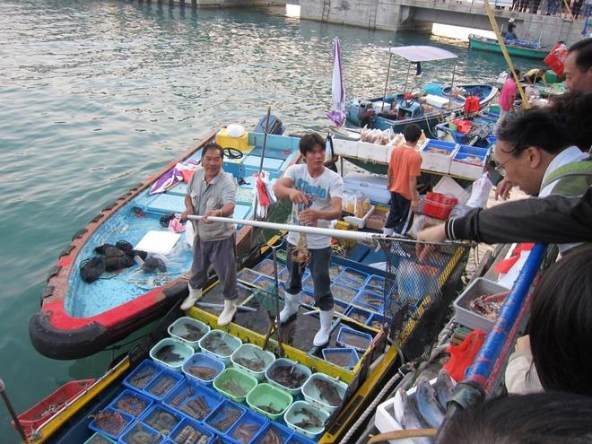 Sai Kung - 'hau hoa vien' cua Hong Kong hinh anh 3 Sai Kung từng là một làng chài rất phát triển, bây giờ nó giống một khu dịch lịch biển nhiều hơn. Hiện nay vẫn có người dân làm nghề chài lưới nhưng chủ yếu phục vụ khách du lịch. Chợ thủy hải sản họp ngay trên mặt biển, mang tới cho du khách những hải sản tươi sống, chất lượng. Ảnh: atigerinthekitchen