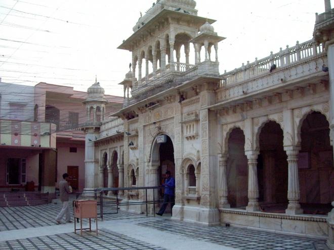 Du lịch Ấn Độ, du khách cũng có thể tới thăm ngôi đền thiêng Karni Mata thờ nữ thần chuột ở Deshnoke, Rajasthan. Đền do ông Maharajah Ganga Singh xây dựng vào đầu những năm 1900, nay là nơi cư trú của hơn 20.000 chú chuột các loại. Ảnh: wikipedia