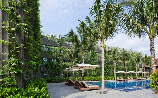Bao Tay ca ngoi khong gian xanh mat cua Naman Da Nang hinh anh 4 Khi hoàn thiện, Naman Retreat sẽ có các dịch vụ spa, chăm sóc sức khỏe, những bungalows và biệt thự bên bãi biển phát triển song song cùng khách sạn hiện tại.