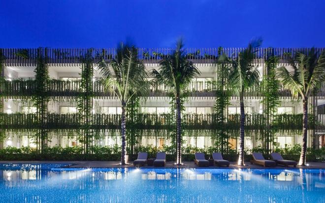 Bao Tay ca ngoi khong gian xanh mat cua Naman Da Nang hinh anh 8 Kết quả là một không gian xanh mát mang lại cảm giác thư giãn cho du khách.