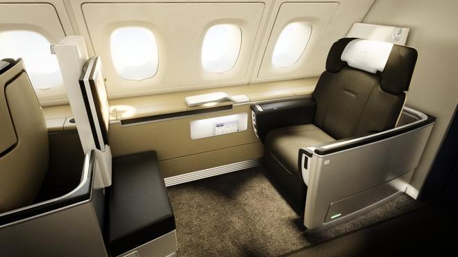 10 khoang hang nhat em ai nhat the gioi hinh anh 4 Lufthansa: Khoang hạng nhất của Lufthansa vừa đơn giản vừa tinh tế, với những giường ngủ đầy đủ nệm, gối, chăn, ghế ngồi thoải mái, các chương trình giải trí bằng 8 thứ tiếng khác nhau. Du khách còn được thưởng thức các loại rượu và cá hồi nổi tiếng.