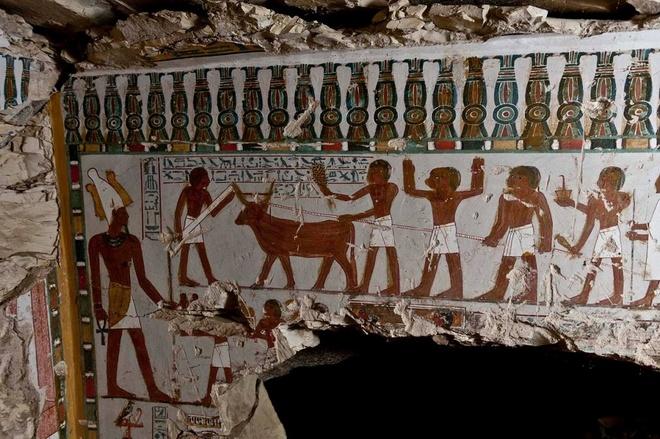 Ai Cap lan dau tien mo cua 3 lang mo don khach hinh anh 2 Bên trong ngôi mộ Ai Cập cổ đại khu bảo vệ đền thờ Amenhotep ở Luxor