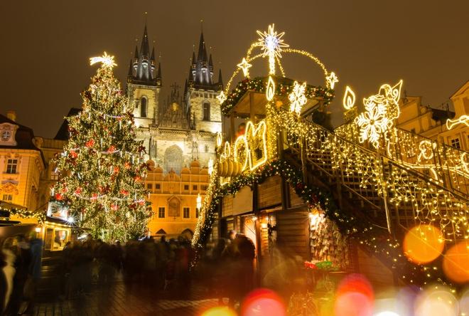 Nhung cay thong Noel tuyet dep o chau Au hinh anh