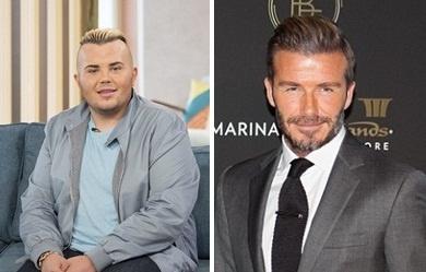 Chang trai 'dao keo' mong muon giong David Beckham hinh anh