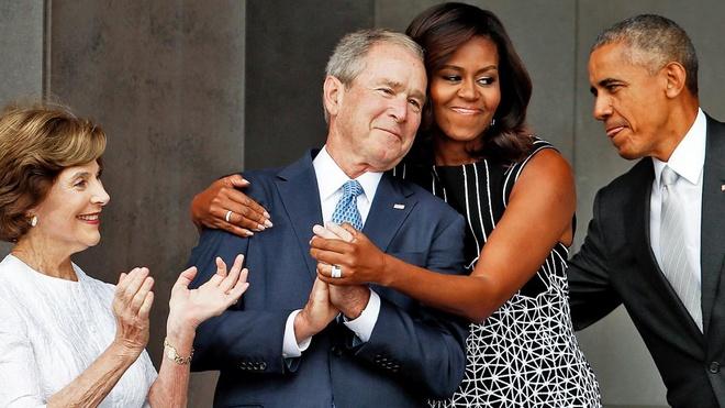 tinh ban giua Bush va ba Obama,  nguoi dan My,  My anh 1