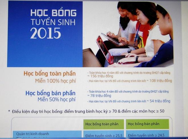 Tung hoc bong 'khung' de hut thi sinh hinh anh