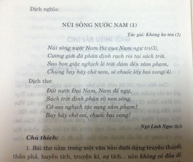 Bai tho 'Nam quoc son ha' co 35 di ban hinh anh