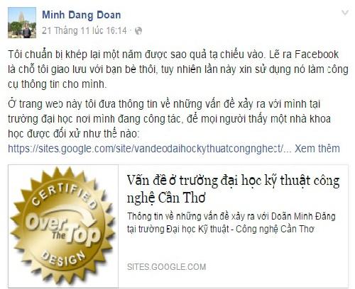 Cho chi dao vu 'giang vien che truong tren Facebook' hinh anh