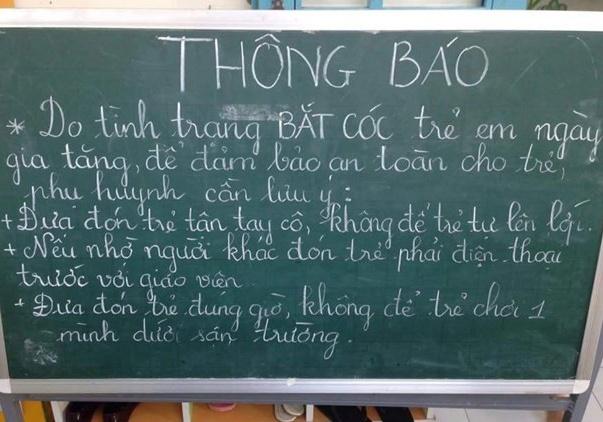 Truong hoc o Sai Gon siet an ninh de phong bat coc tre em hinh anh