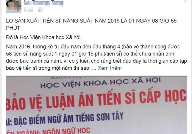 GS Pham Tat Dong: Nhieu lo hong trong dao tao tien si hinh anh 1