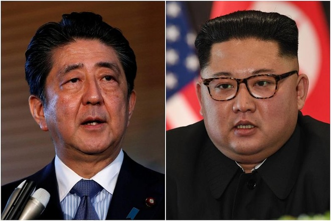 Thu tuong Nhat co the den Binh Nhuong gap ong Kim Jong Un hinh anh