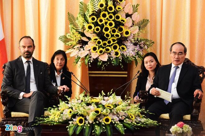 thu tuong Phap gap Bi thu Nguyen Thien Nhan anh 1
