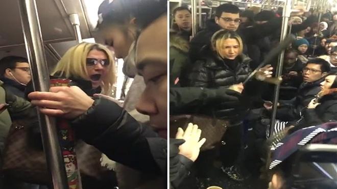 Bat nghi pham hanh hung co gai goc A tren tau dien ngam New York hinh anh 1