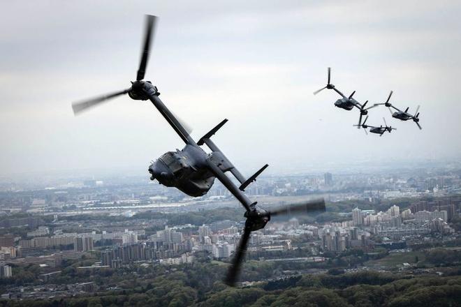 'Chim ung bien' CV-22 Osprey cua My lan dau ha canh o Viet Nam hinh anh 2
