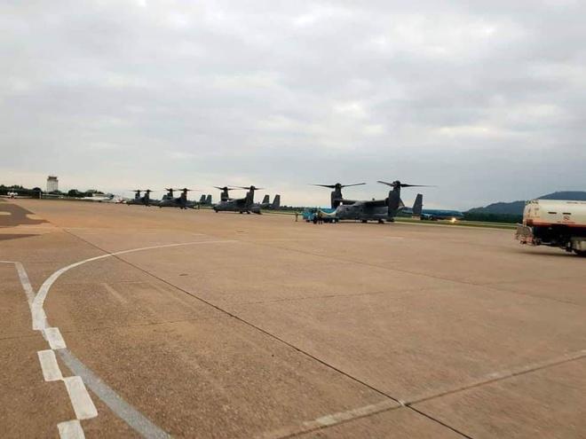 'Chim ung bien' CV-22 Osprey cua My lan dau ha canh o Viet Nam hinh anh 1