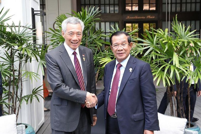 Ly Hien Long gap ong Hun Sen anh 1
