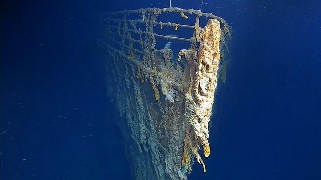 Hình ảnh thám hiểm xác tàu Titanic lần đầu sau 14 năm