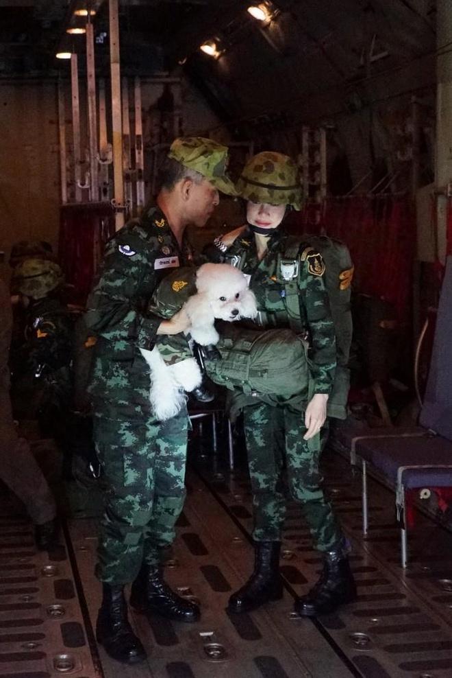 Hinh anh Hoang quy phi Thai lai may bay, ban sung gay bao mang hinh anh 7