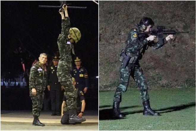 Hinh anh Hoang quy phi Thai lai may bay, ban sung gay bao mang hinh anh 2