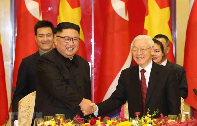 Tong bi thu, Chu tich nuoc gui dien mung quoc khanh ong Kim Jong Un hinh anh 1
