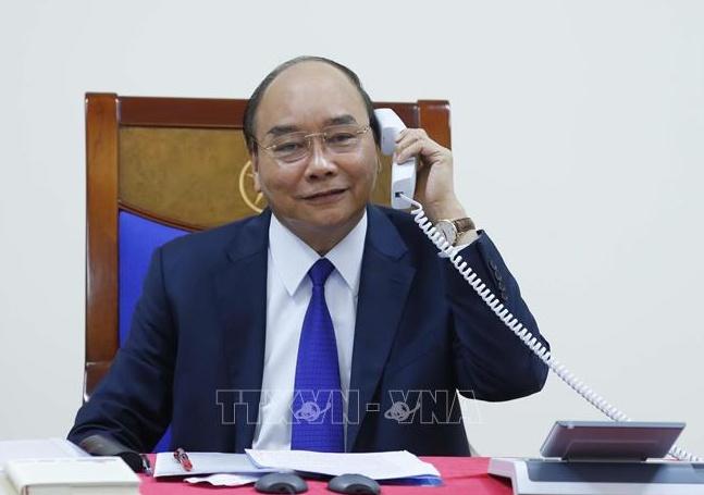 Thu tuong Nguyen Xuan Phuc dien dam voi TT Trump ve chong dich hinh anh 1 vna_potal_thu_tuong_nguyen_xuan_phuc_dien_dam_voi_tong_thong_my_donald_trump_stand_1_.jpg