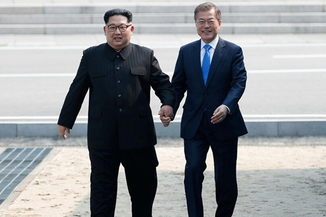 Kim Jong Un chuc suc khoe toan dan Han Quoc anh 1