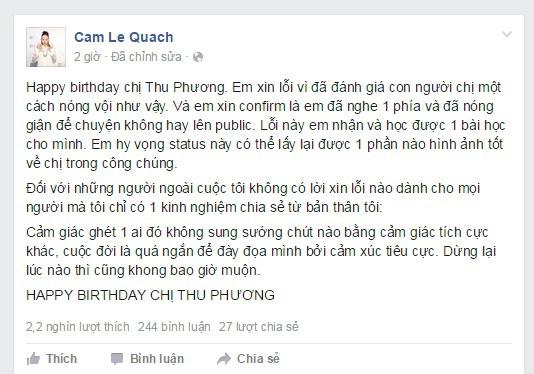 Kimmese thanh than khi xin loi Thu Phuong hinh anh 1