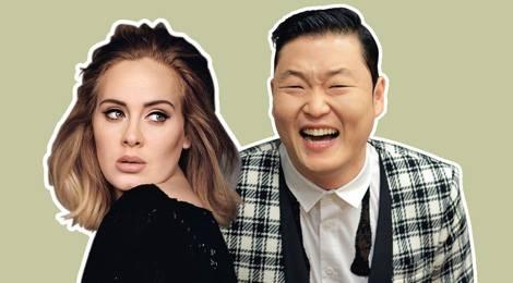 Psy va Adele: Ga he va hoa mi hinh anh
