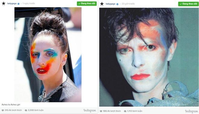 Lady Gaga lang le khoc thuong David Bowie hinh anh 2