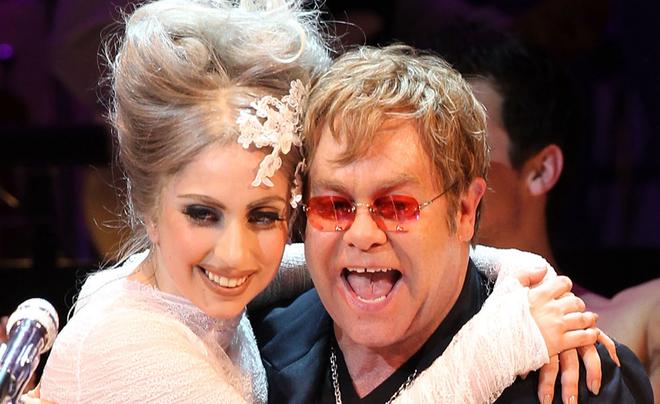 Lady Gaga se hat cung Elton John trong album moi hinh anh