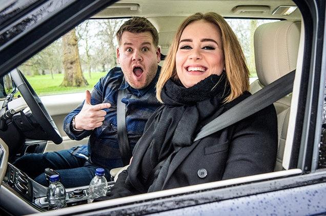 Adele lap ky luc voi man karaoke trong xe hoi hinh anh 1