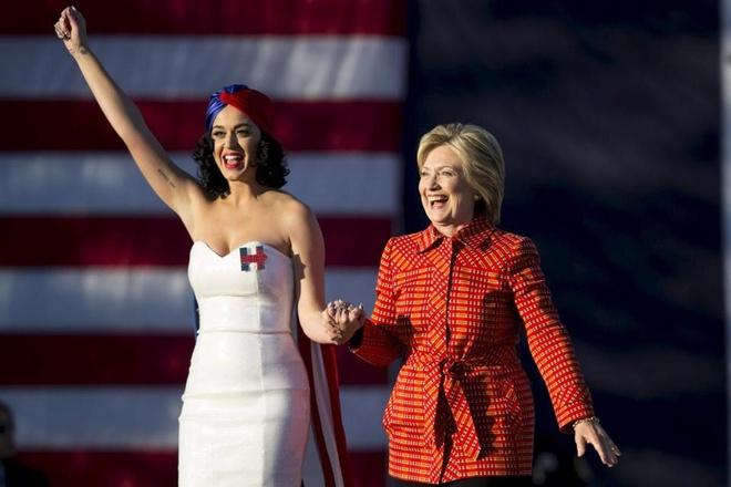 Katy Perry giup ba Hillary Clinton van dong tranh cu hinh anh 1
