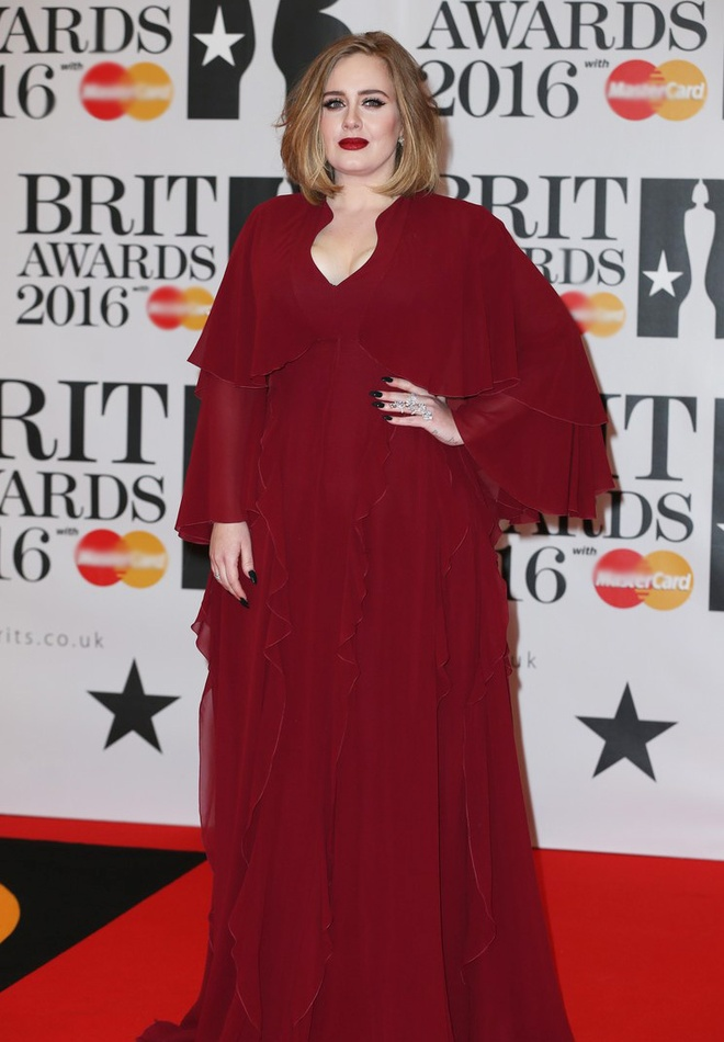 Adele long lay tren tham do BRIT Awards 2016 hinh anh 1