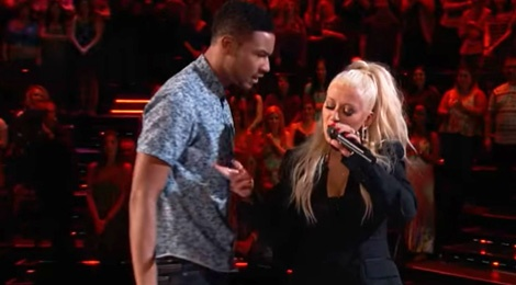 The Voice: Christina Aguilera do giong cung thi sinh hinh anh